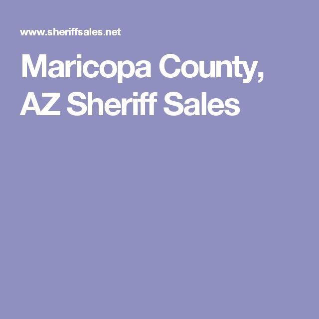 Maricopa County, AZ Sheriff Sales