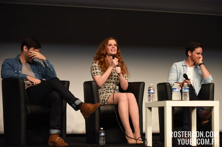 Rebecca Mader, Colin O'Donoghue et Liam Garrigan – Convention Fairy Tales #onceuponatime #conventionfairytale