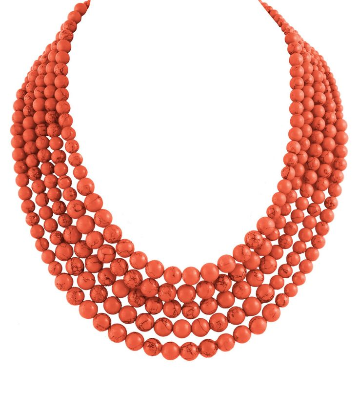 Love Coral! Palm Park Coral Statement Necklace #Palm_Park #Coral #Statement #Necklace #Summer #Fashion #Jewelry #Accessories