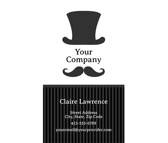 11 best printable business cards images on pinterest business card download this mr top hat business card template and other free printables from myscrapnook reheart Image collections