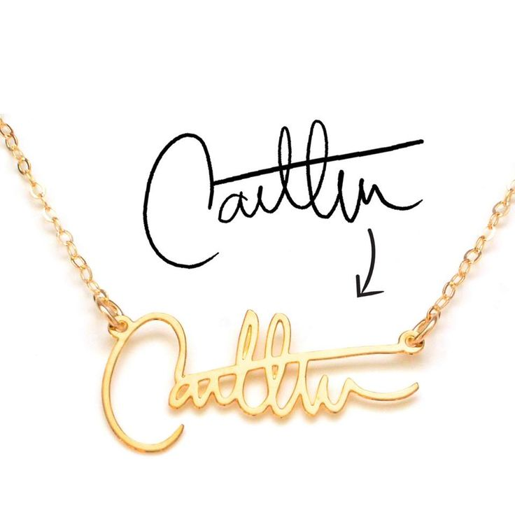 Create a custom name necklace out of your own signature on Fab.com! #fashion