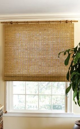 Japanese Inspired Matchstick Blinds Window
