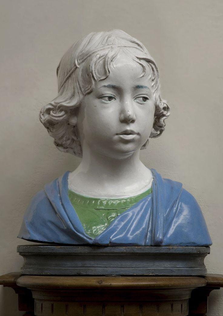 Andrea della Robbia, Bust of a Boy, About 1475, glazed terracotta. Museo Nazionale del Bargello, Florence. Courtesy of the Ministero dei beni e della attività culturali e del turismo. Photograph: Antonio Quattrone.
