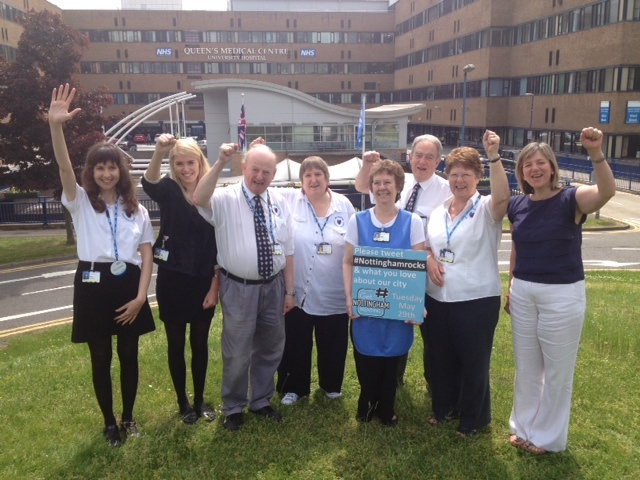 A visit to QMC volunteers on trending day