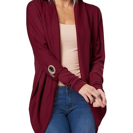 NFL Womens Circular Cardigan with Ribbed Trim