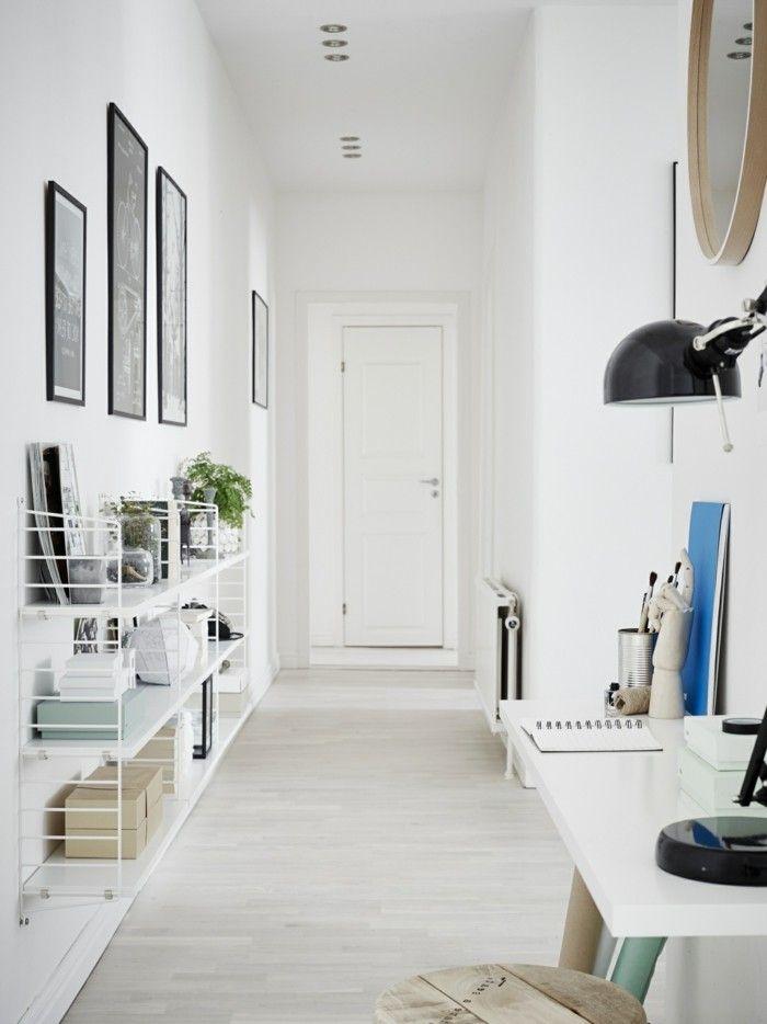 Lieblich ▷ 1001+ Ideen Für Langen Flur Gestalten   Eine Große Herausforderung |  Einrichtungsideen | Pinterest | Weiß Flur, Langer Flur Und Flur Deko