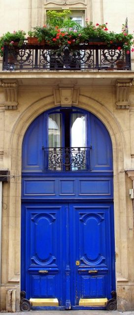 Door in Paris, France~ - can't help it - it is such a beautiful blue :-D