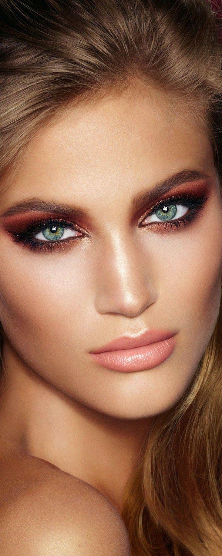 Makeup in Marsala hues