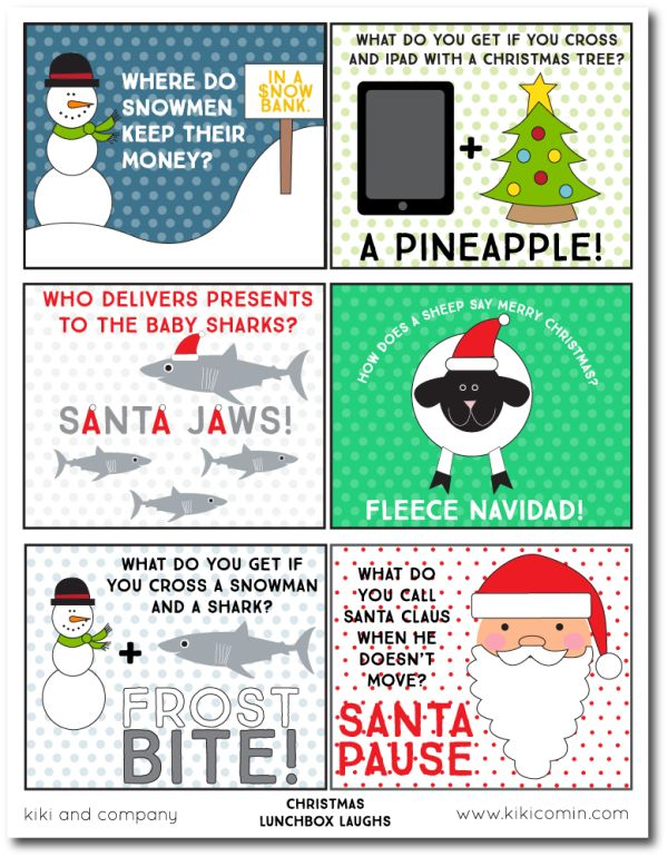 Free Christmas Craft Ideas Part - 30: Christmas Lunchbox Laughs From Kiki And Company