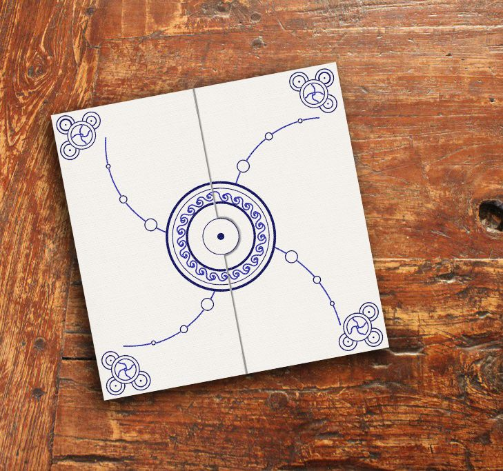 Invitation inspired by ancient Dacic symbols