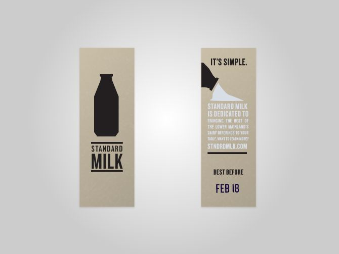 Another example of nice, clean milk bottle design and a strong font underneath.
