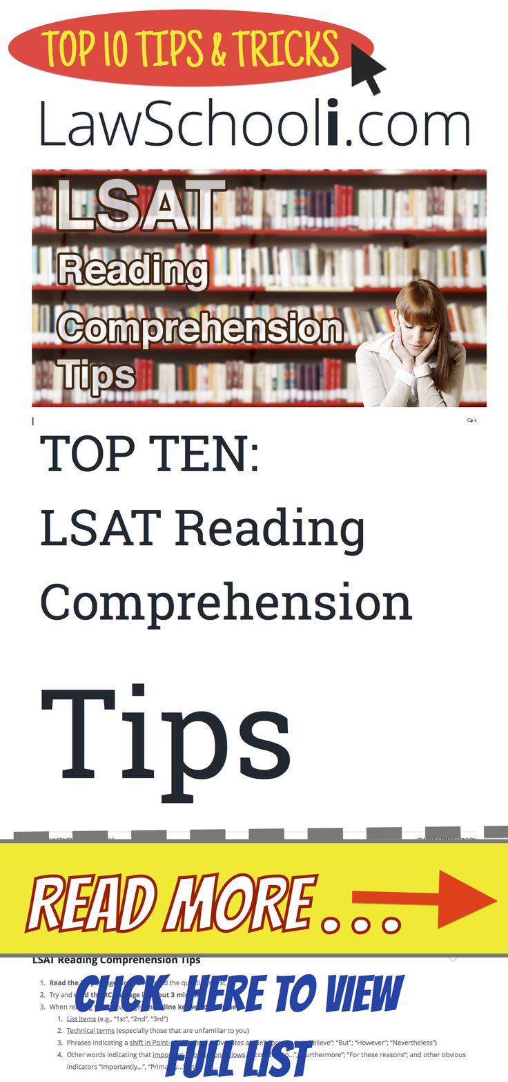 LSAT Reading Comprehension Tips Reading comprehension