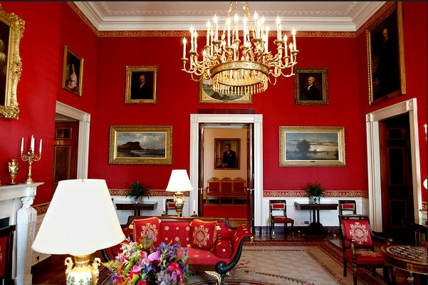 The Red Room in the White House