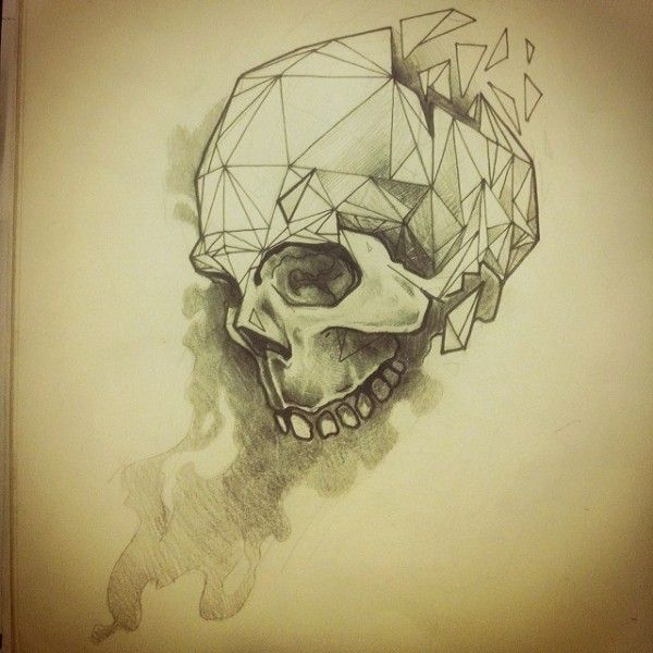 The skull represents venerability and how easily it can be taken advantage of