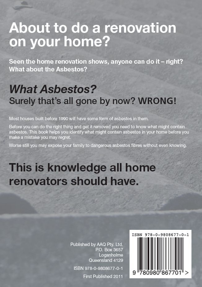 """Back cover of """"Identifying Asbestos In Your Home"""""""