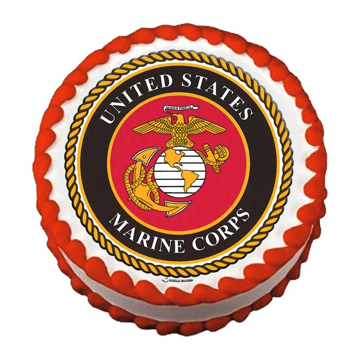 Military Ball Decorations: USMC Birthday Ball Cake Edible Image