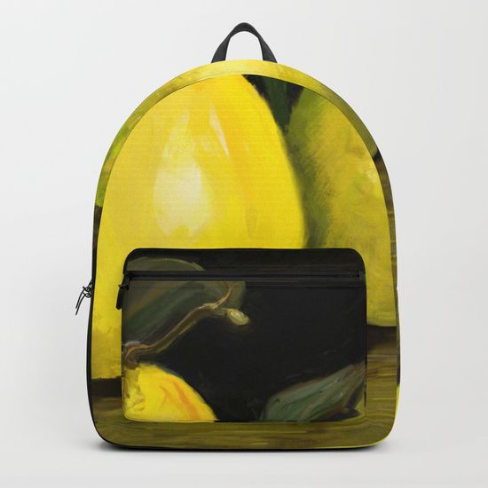 #Backpack, # autumn #quinces #black #yellow #green