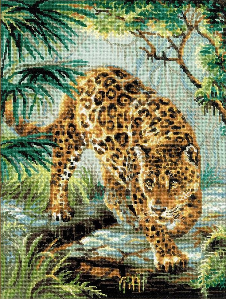 Riolis 1549 puntada cruzada contada Kit-propietario de la selva   Artesanías, Artesanías con agujas e hilos, Bordado y punto de cruz   eBay!