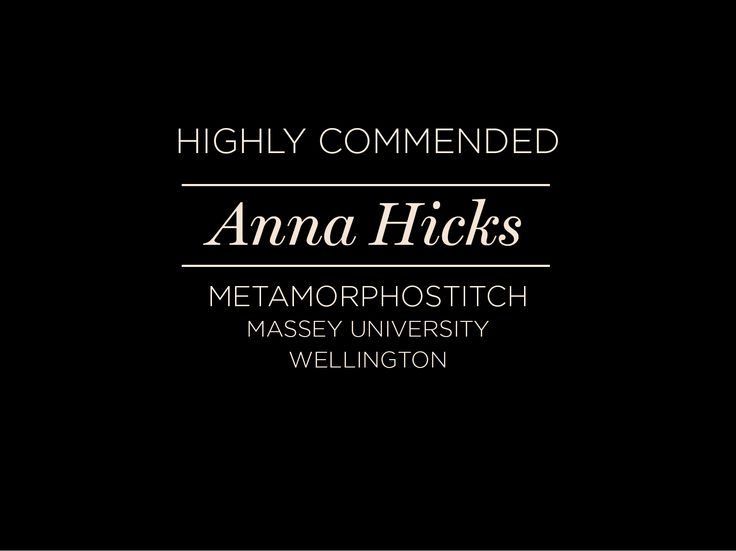 Anna Hicks - Highly Commended