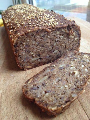 Glutenfrit rugbrød, skønt brød, glutenfrit brød, glutenfri