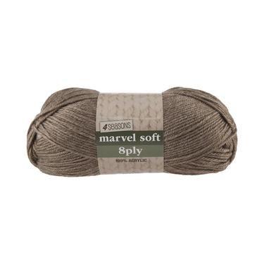 4 Seasons Marvel Soft 8 Ply Yarn Cafe 100 g