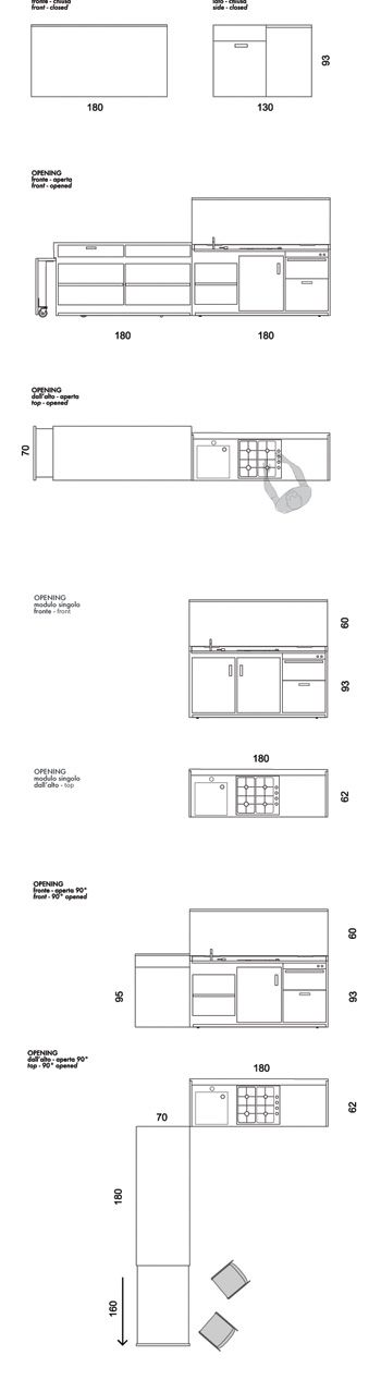 LINK. Mobile e insieme cucina, Opening si presenta come un blocco di legno pregiato completamente liscio e assente; quando è chiuso introverso nel suo non dichiarare il suo carattere ed il suo essere una cucina, al suo interno nasconde tuttavia potenzialità sorprendenti.