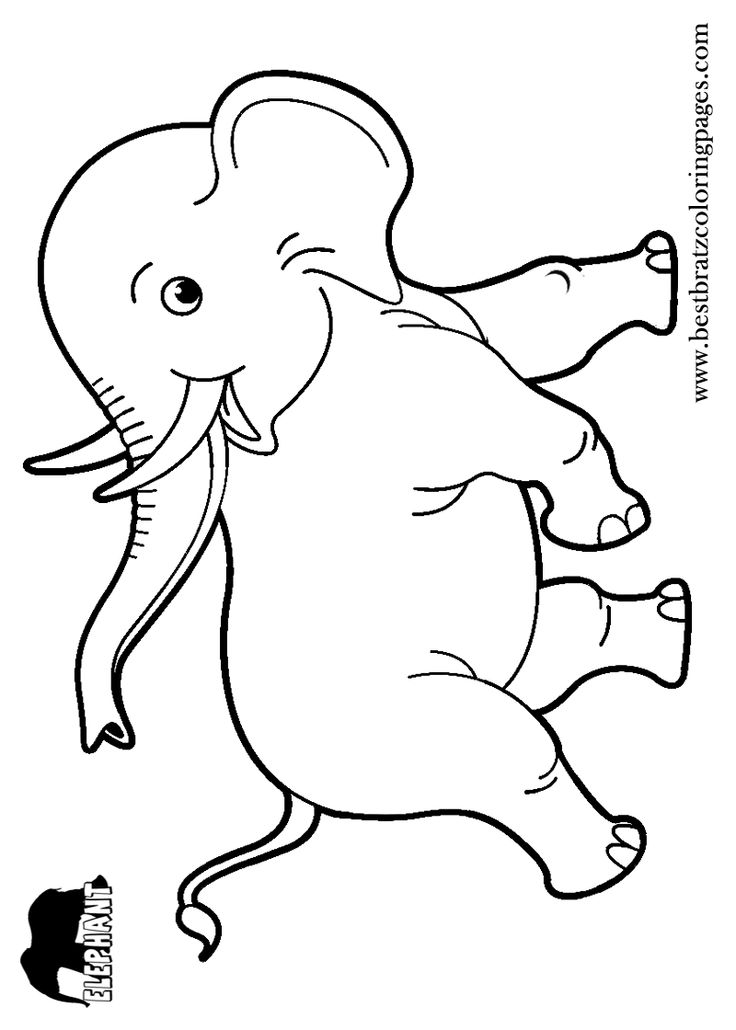 Free Printable Elephant Coloring