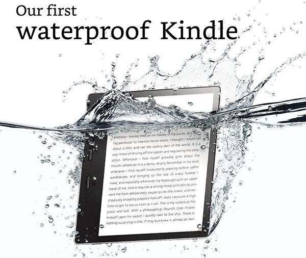 The all-New Kindle Oasis E-reader – 7″ High-Resolution Display (300 ppi), Waterproof, Built-In Audible, 8 GB, Wi-Fi