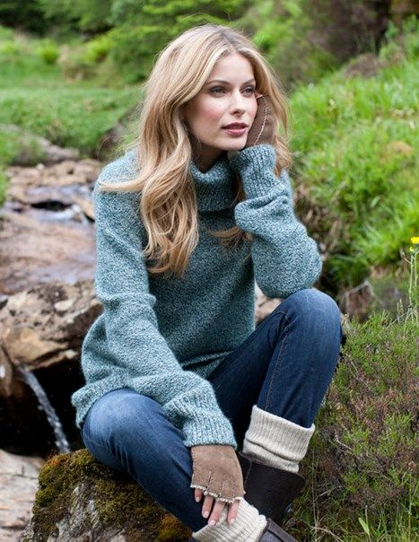 Slouchy Sunday Roll Neck | Womens Sweaters