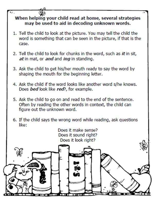 "Very similar to the ""Parent sheet"" I send home - getting the parents on board, using the same language is very important. ;)"