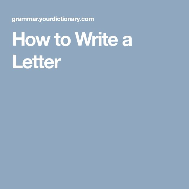 The 25+ best How write a letter ideas on Pinterest Employment - how to write a professional letter