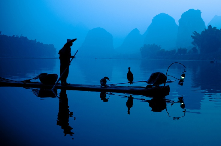 Fisherman with cormorans by Philippe CAP, via 500px