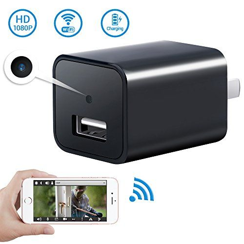 1080P WiFi Hidden Spy Camera USB Wall Charger-SOOSPY Wireless AC Adapter Security Camera Video Recorder with Motion Detection,App Control for IOS and Android
