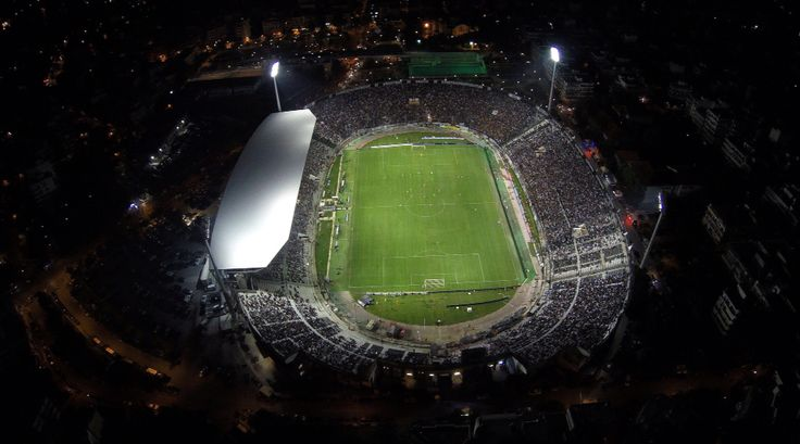 Toumba stadium from air.  PAOK FC 2-1 AEK FC, Greek Superleague 2015-16  #paok #paokfc #toumba #stadium #football #footballstadium #sports #fans #thessaloniki #skg