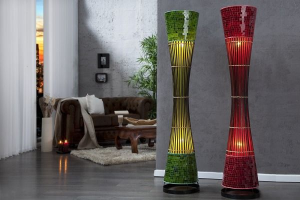 Lampa Bambus Red