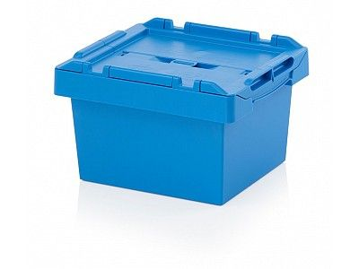 16 Litre Stack - Nest Attached Lid Container - Lidded Plastic Storage Box