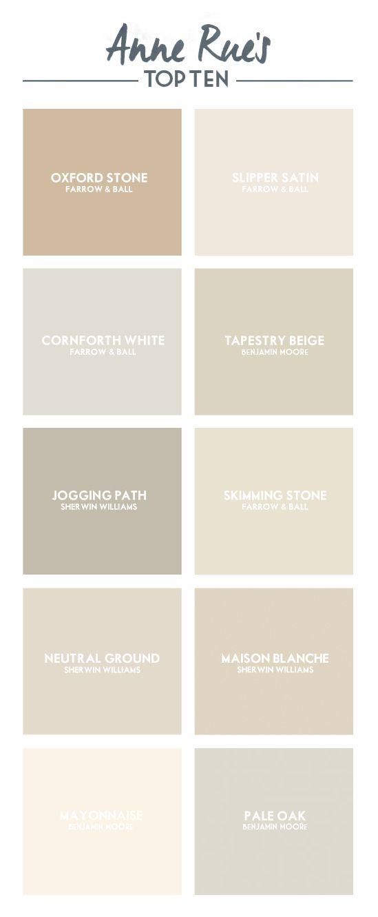 Top Ten // Neutral Paint Colors | Anne RueAnne Rue