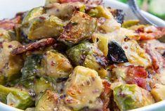 Choux de Bruxelles au bacon et à la moutarde WW,recette d'un bon plat de choux de Bruxelles avec une bonne sauce crémeuse à la moutarde très facile à réaliser pour un repas complet et équilibré.