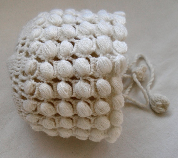 Handmade knitted baby hat