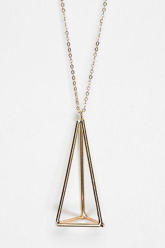 UO geometric pendant necklace.