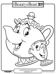 Free Beauty & the Beast Disney printables.