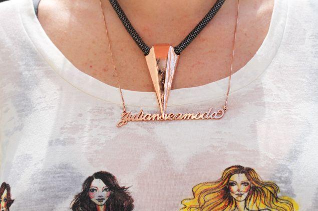 colar diamante ouro rosa corrente com nome - Juliana e a Moda   Dicas de moda e beleza por Juliana Ali