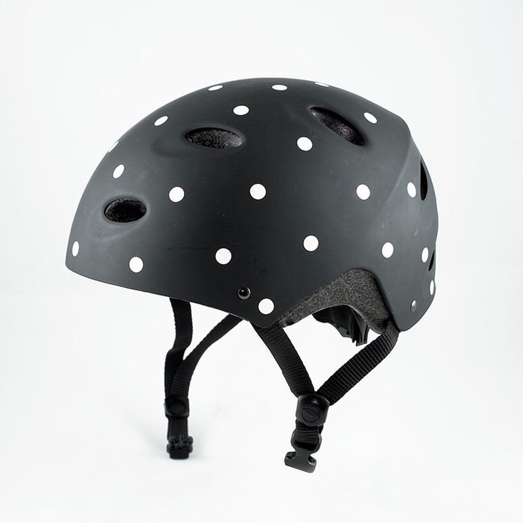 Bike Sticker Reflective Polka dots / Helmet sticker / Bike accessories / Reflective decal by MadeofSundays on Etsy https://www.etsy.com/listing/205882881/bike-sticker-reflective-polka-dots