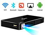 """Portable Video Home Theater Rechageable Projector Max Throw 120"""" Display,Smart Mini projector Support... Best Home Cinema For You ★Newest Android 4.4 system and support Wifi/Bluetooth/App https://thehomeofficesupplies.com/portable-video-home-theater-rechageable-projector-max-throw-120-displaysmart-mini-projector-support-1080phd-bluetooth-wifi-wireless-connectivity-with-premium-osram-led-lamp-works-for-30000-hours/"""