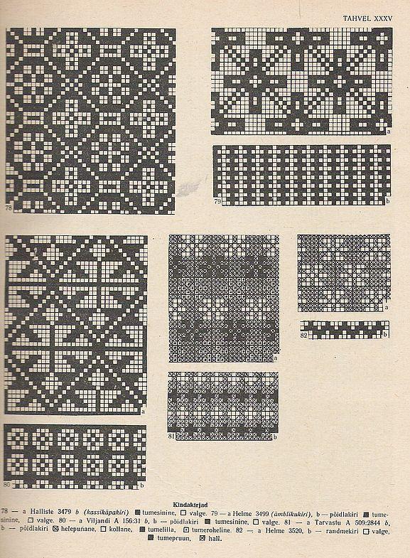 Estonian mitten patterns - XXXV