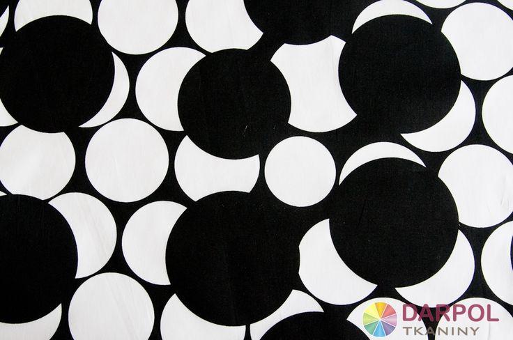 Biało - czarna cienka bawełna z dodatkiem lycry.