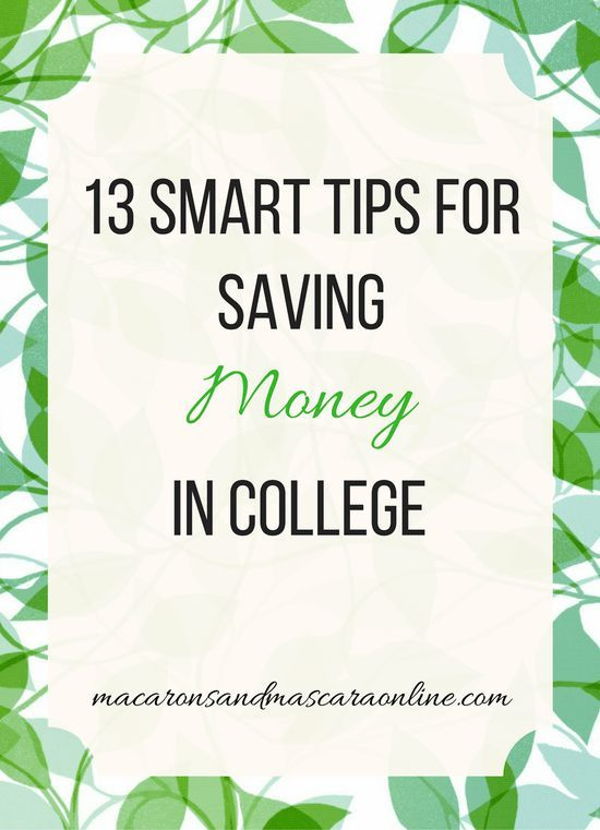 13 Tips For Saving Money In College