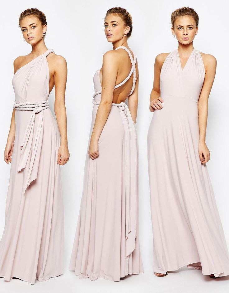 Coast Corwin V Neck Multiway Maxi Dress in Blush