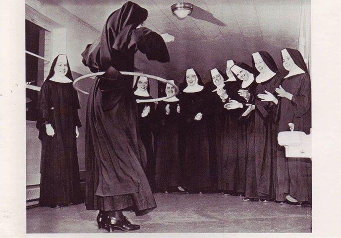 Hula-hooping nun, 1958