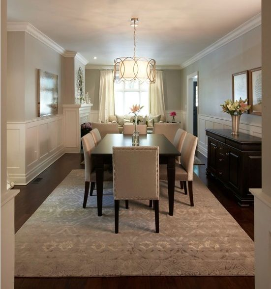 Sherwin Williams Heron Plume Wall Color Trickett Dining Room
